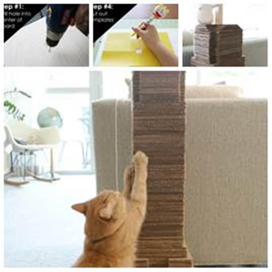 DIY Cat Scratching Post 1
