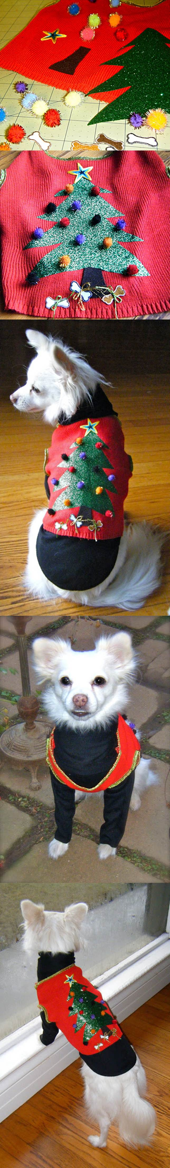 DIY Dog Christmas Sweater 2