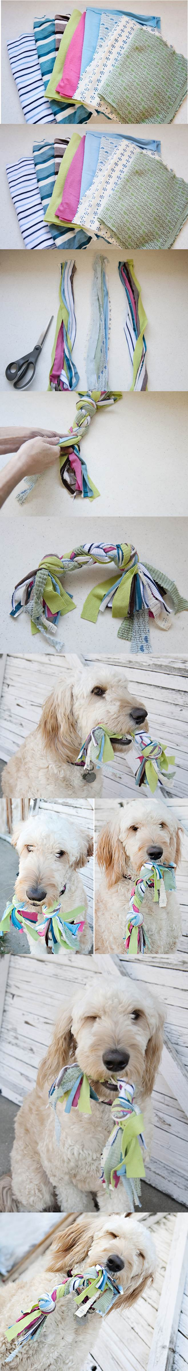 DIY Jersey Knit Dog Toy 2