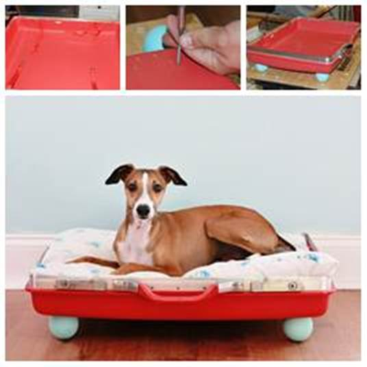 DIY Pet Bed from Old Suitcase 1