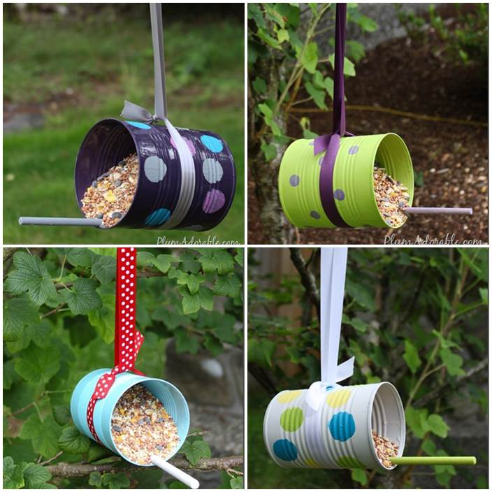 DIY Bird Feeders from Tin Cans 1
