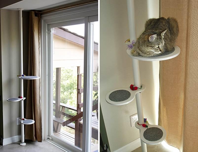 DIY Cat Climbing Shelves 1