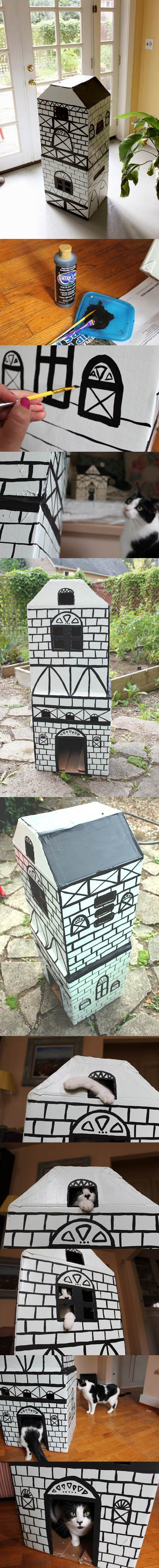 DIY Cat Cottage 2