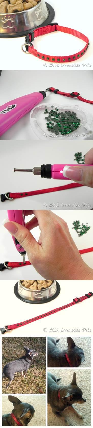 DIY Christmas Bling Collar 2