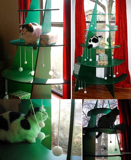 DIY Climbable Christmas Tree For Cats 2