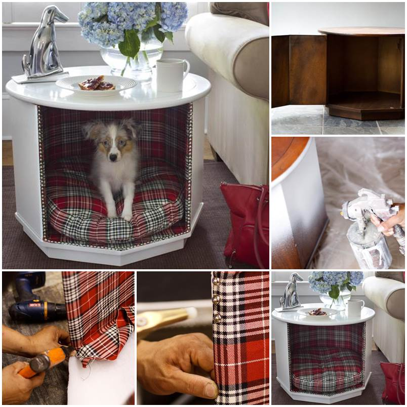 Diy Combination Pet Bed And End Table