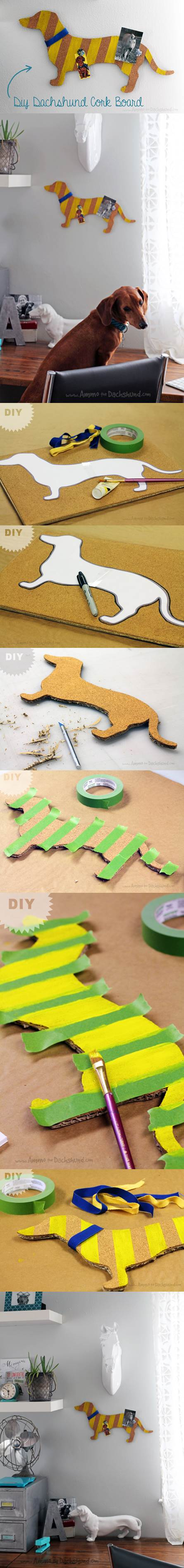 DIY Cork Board for Dogs 2