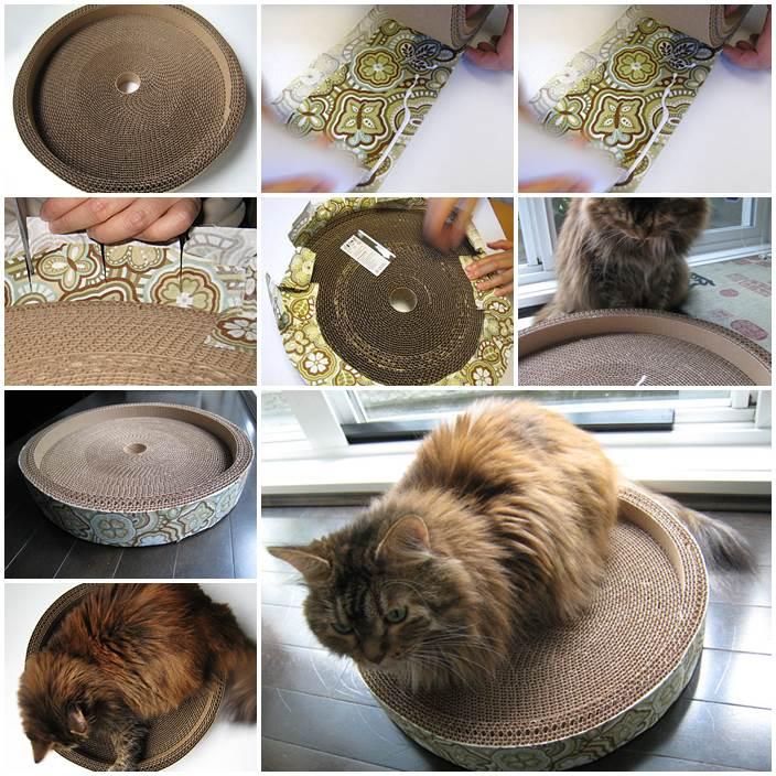 DIY Corrugated Cat Bed 1