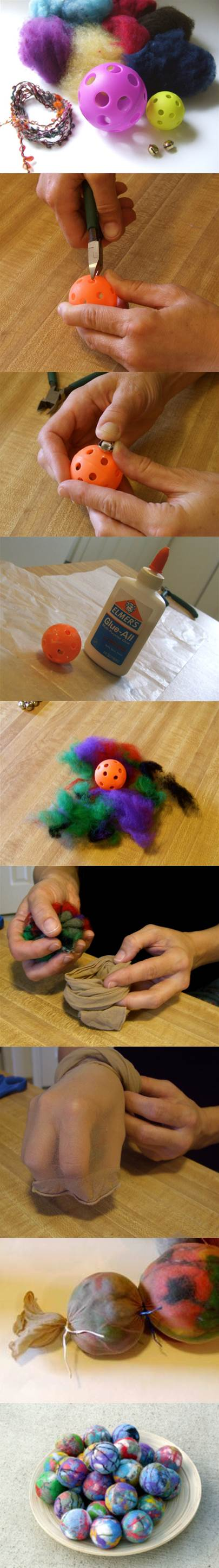 DIY Cute Felted Cat Toy 2