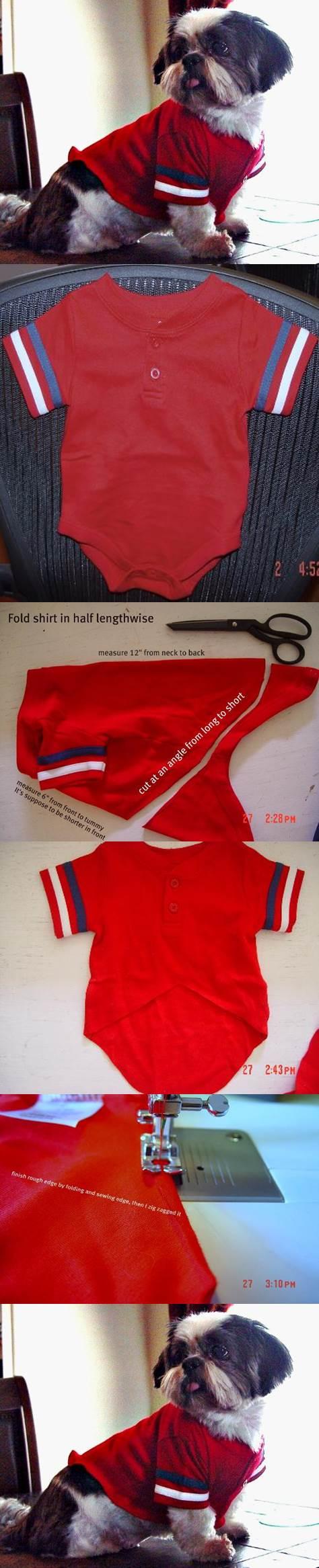 DIY Dog Shirt from Baby Tee 2