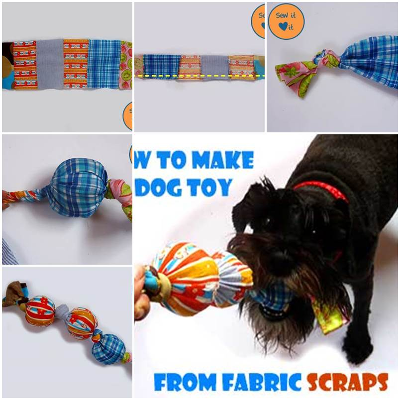 DIY Dog Toys from Fabric Scraps 1
