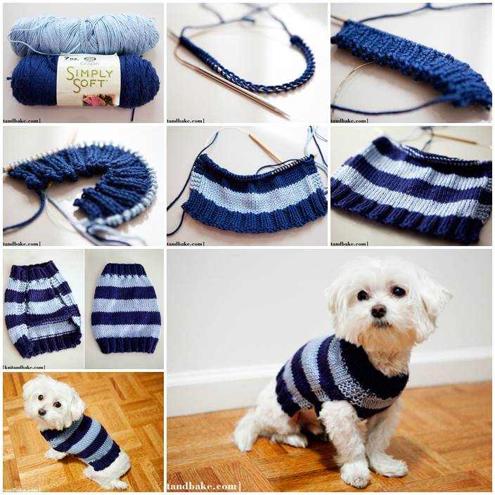 Simple Dog Sweater Knitting Pattern : DIY easy sew dog coat LovePetsDIY.com