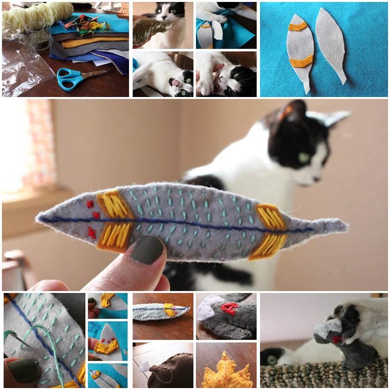 DIY Embroidered Felt Catnip Toys 1