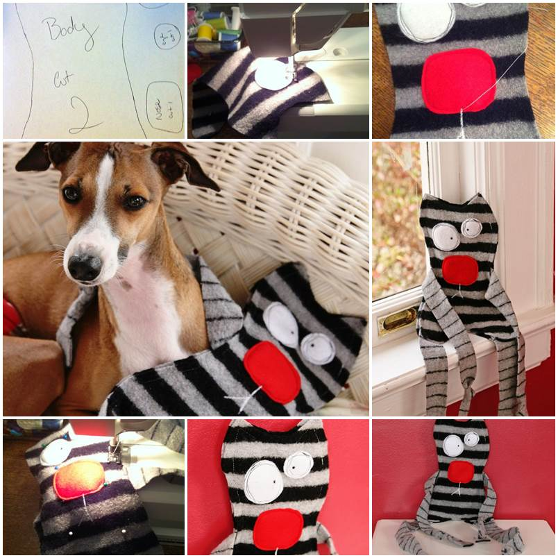 DIY Felted Sweater Dog Toy 1