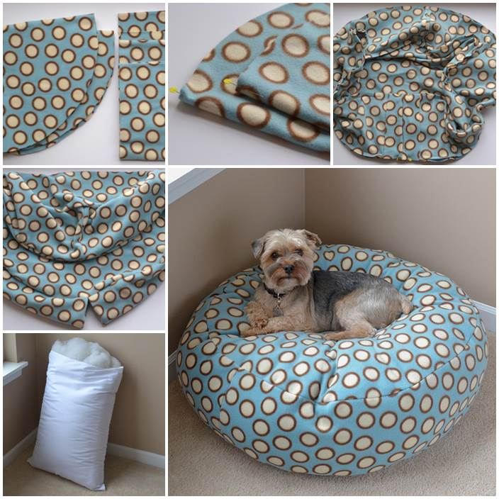 how to make a vintage suitcase dog bed