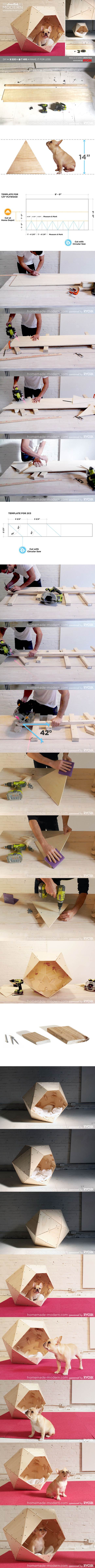 DIY Geometric Dog House 2
