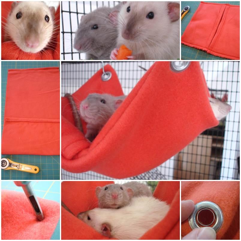 DIY Hamster Fleece Hammock 1