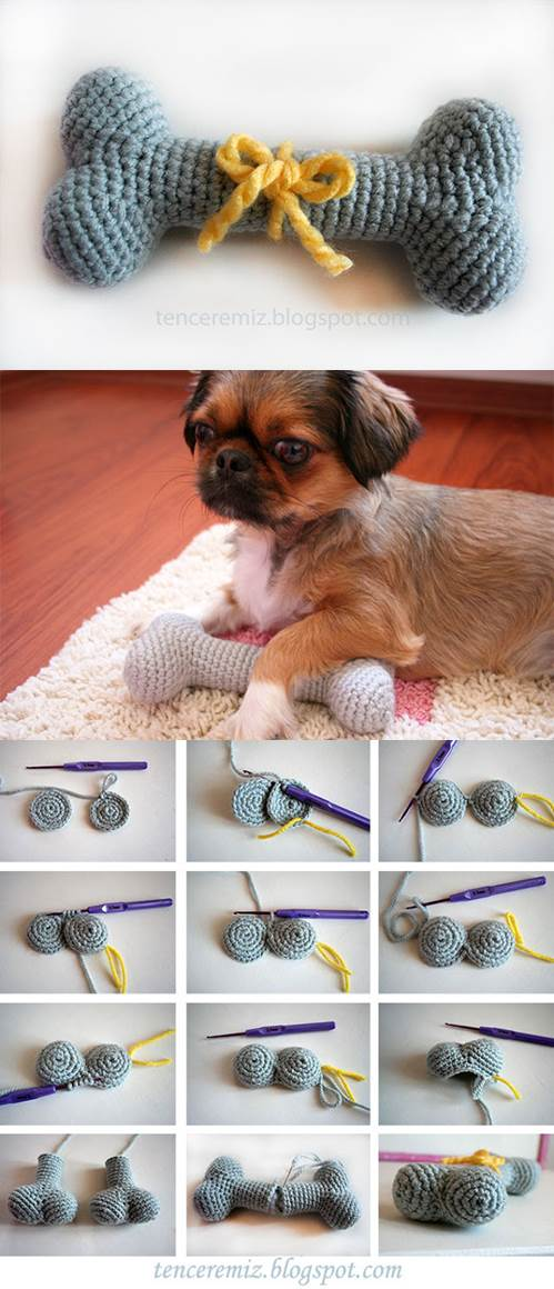 DIY Knitted Dog Bone Toys 2