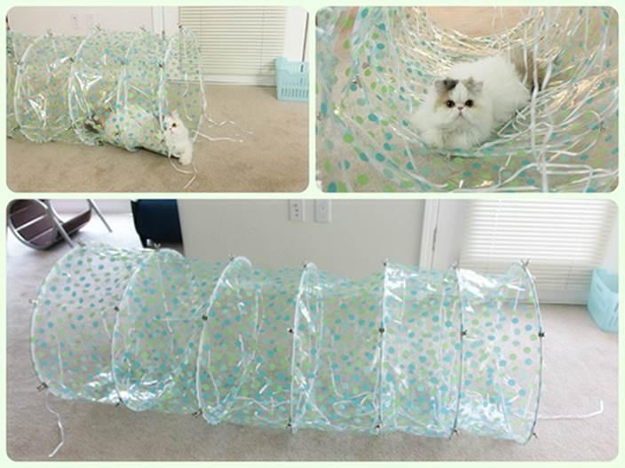 DIY Modern Transparent Cat Tunnel 1
