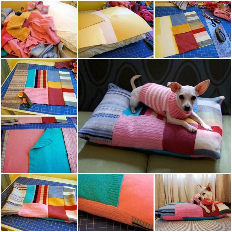 DIY Patchwork Pet Bed 1