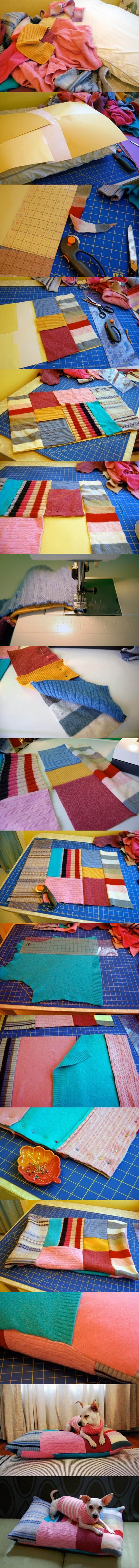 DIY Patchwork Pet Bed 2