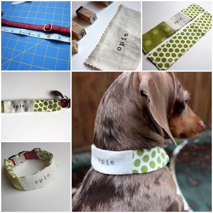 DIY Personalized Dog Collar Cozie 1