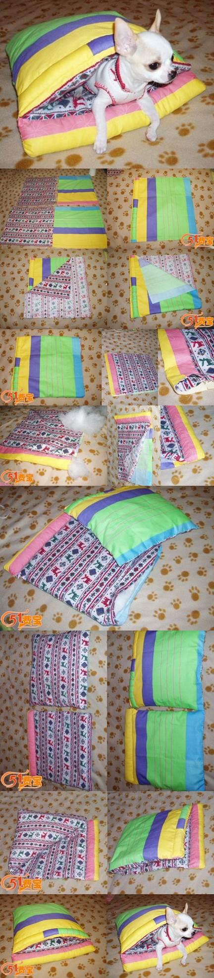 DIY Pet Sleeping Bag from Scraps 2