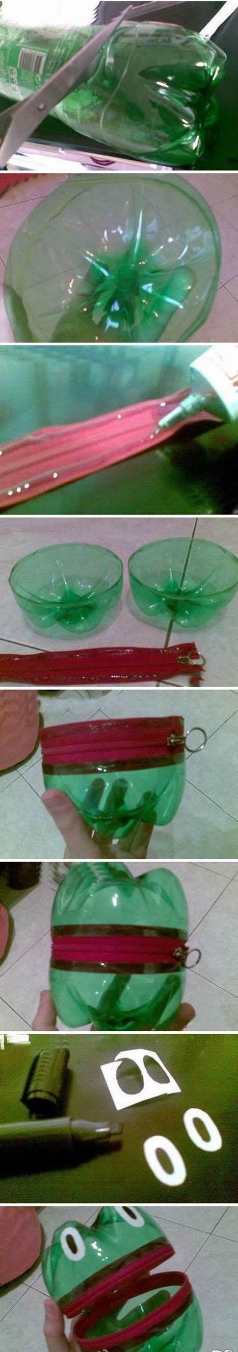 DIY Plastic Bottle Frog Change Case 2
