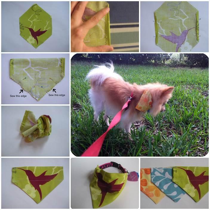 DIY Slide On Dog Collar Bandana 1