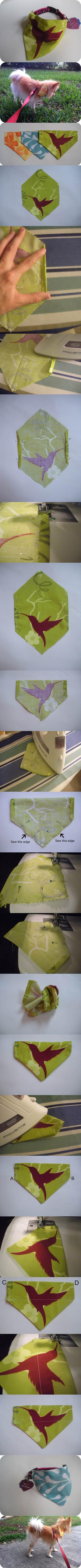DIY Slide On Dog Collar Bandana 2