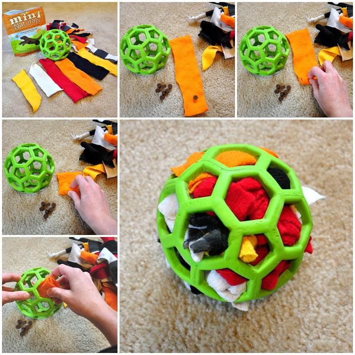 DIY Stuffed Ball Dog Toy 1