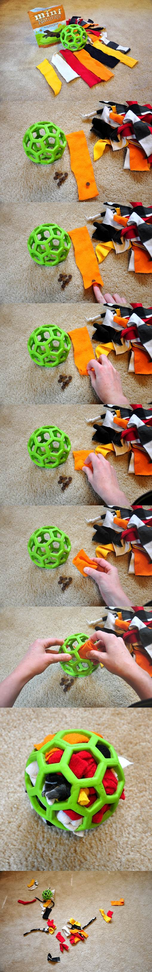 DIY Stuffed Ball Dog Toy 2