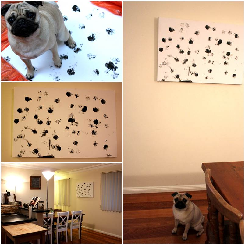 DIY Dog Art – Paw Paiting 1