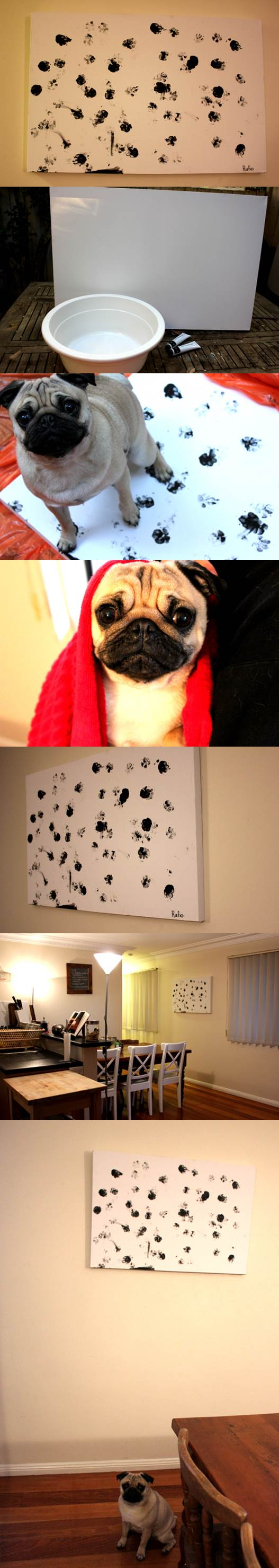 DIY Dog Art – Paw Paiting 2