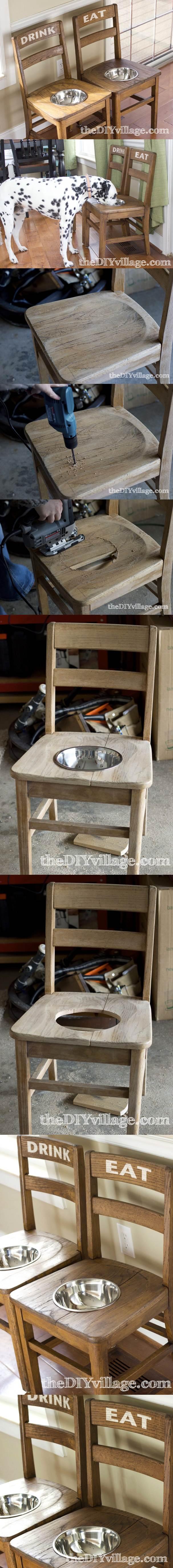 DIY Dog Bowl Chairs 2