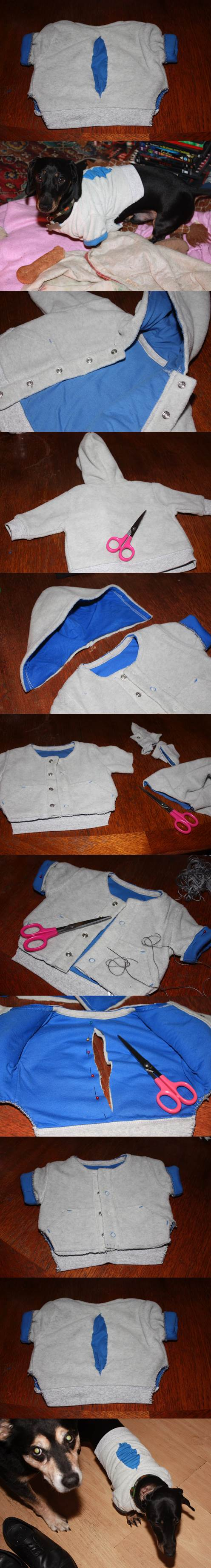 DIY Dog Coat from Baby Coat 2