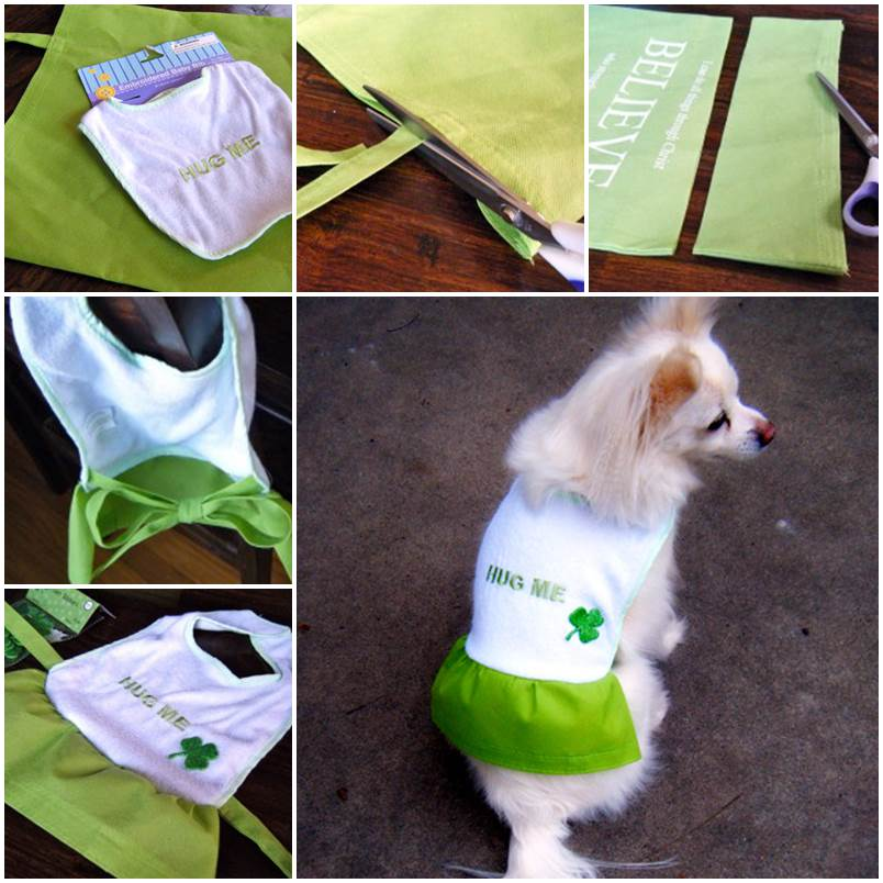 DIY Dog Coat with Dollar Store Materials 1