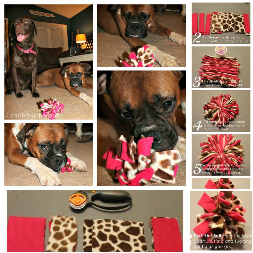DIY Fleece Dog Toy 1