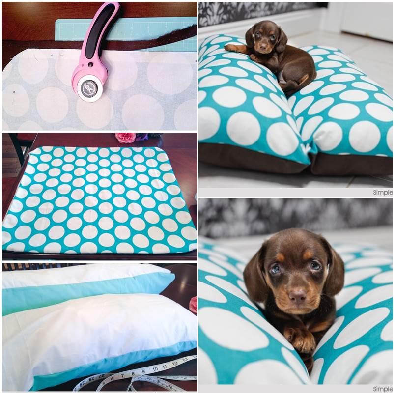 DIY Hotdog Bun Dog Bed 1