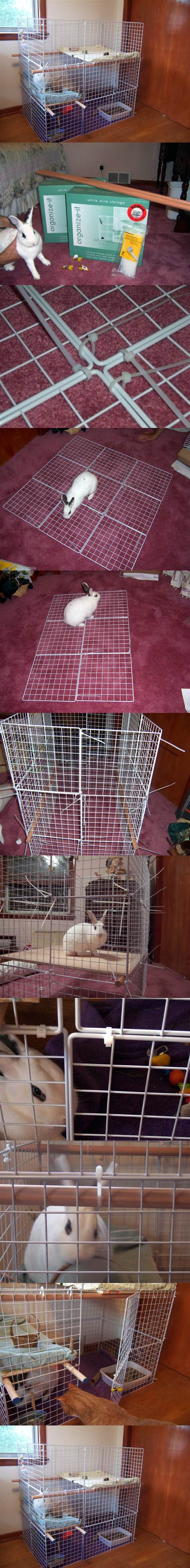 DIY Indoor 3-Level Rabbit Condo 2