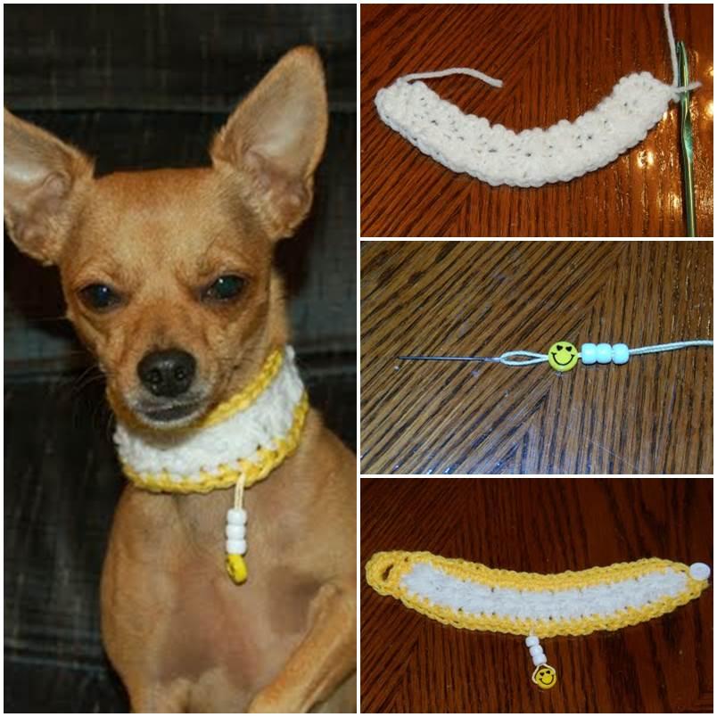 DIY Smiles Crochet Dog Collar 1
