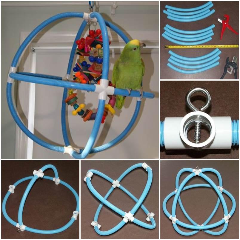 DIY Spherical Swing for Parrots 1