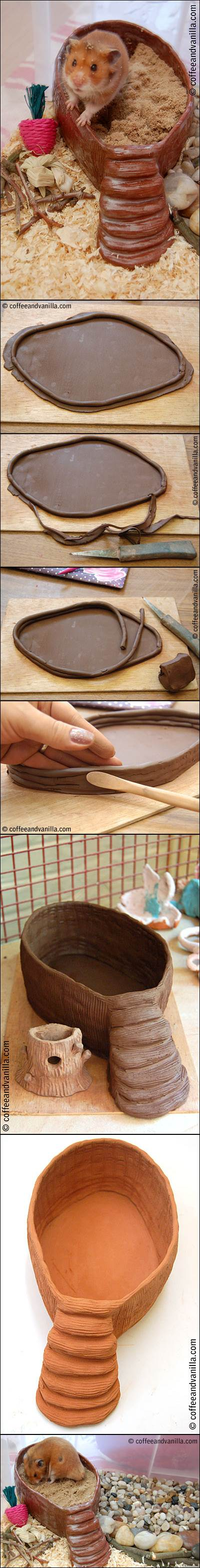 DIY Terracotta Clay Sand Bathtub for Hamsters 2