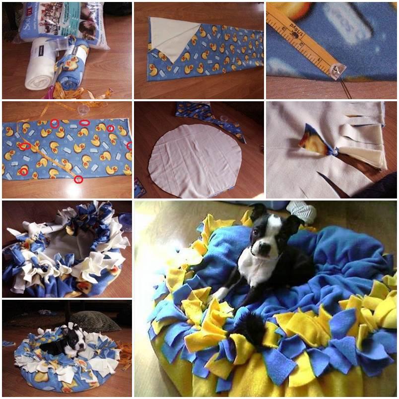 DIY Warm Fleece Puppy Bed 1