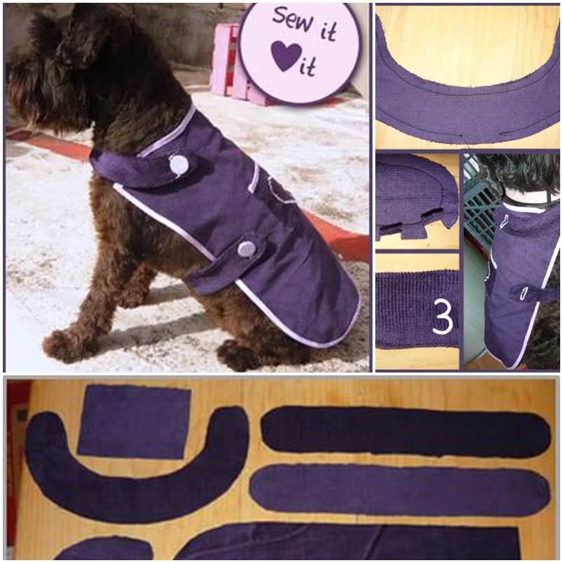 DIY easy sew dog coat 1