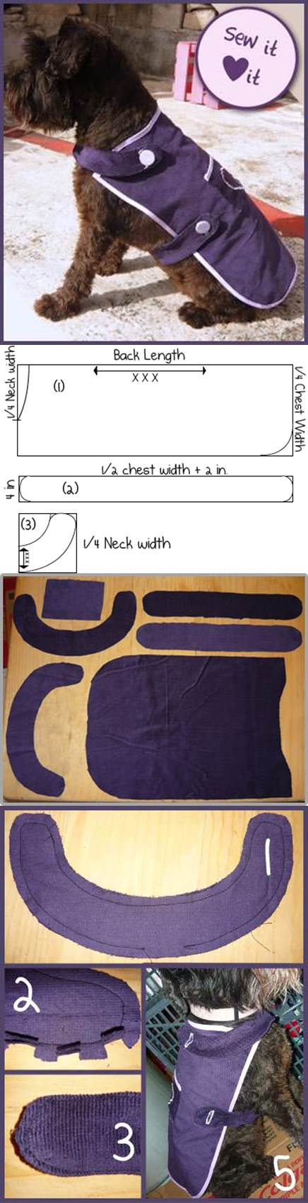 DIY easy sew dog coat 2