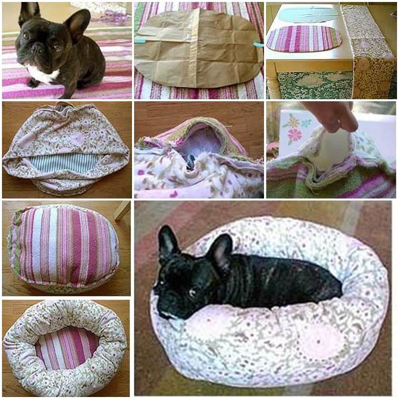 diy round puppy bed 1